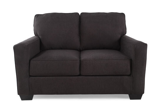 "Contemporary 55"" Twin Sleeper Loveseat in Charcoal Gray"