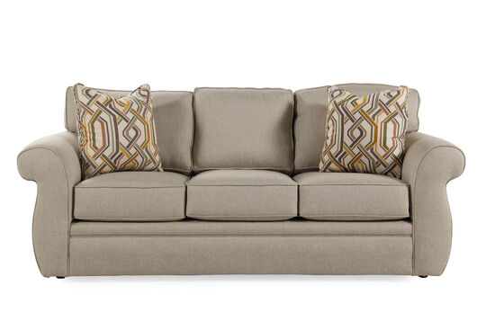 "Contemporary 87"" Queen Sleeper Sofa in Latte"