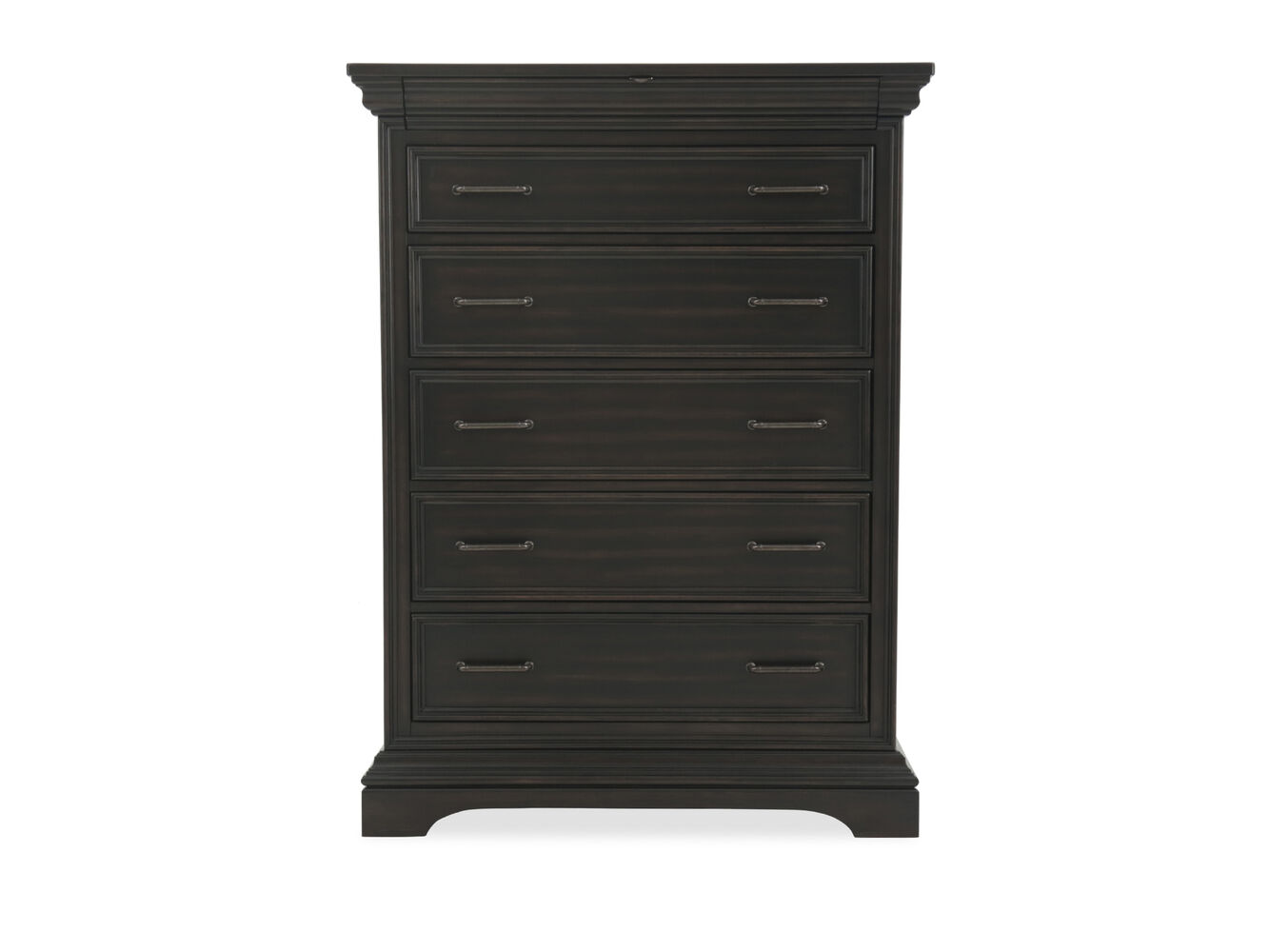 59 Solid Rubberwood Six Drawer Chest In Black Mathis Brothers Furniture