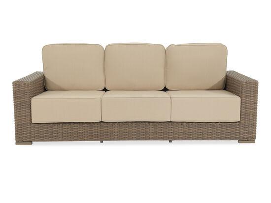 Three-Seater Contemporary Wicker Sofa in Beige