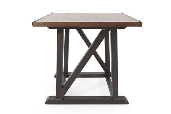 Contemporary Square End Table in Aged Steel Gray