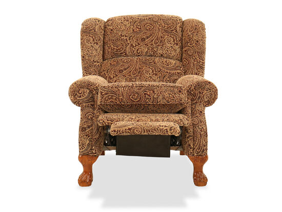"""Paisley Patterened Contemporary 38.5"""" Recliner"""