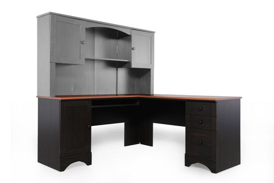 "67"" Casual Corner Desk with Return in Espresso"