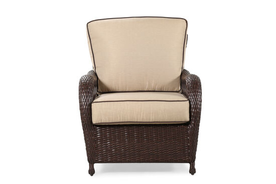 Weather-Resistant Casual Club Chair in Beige