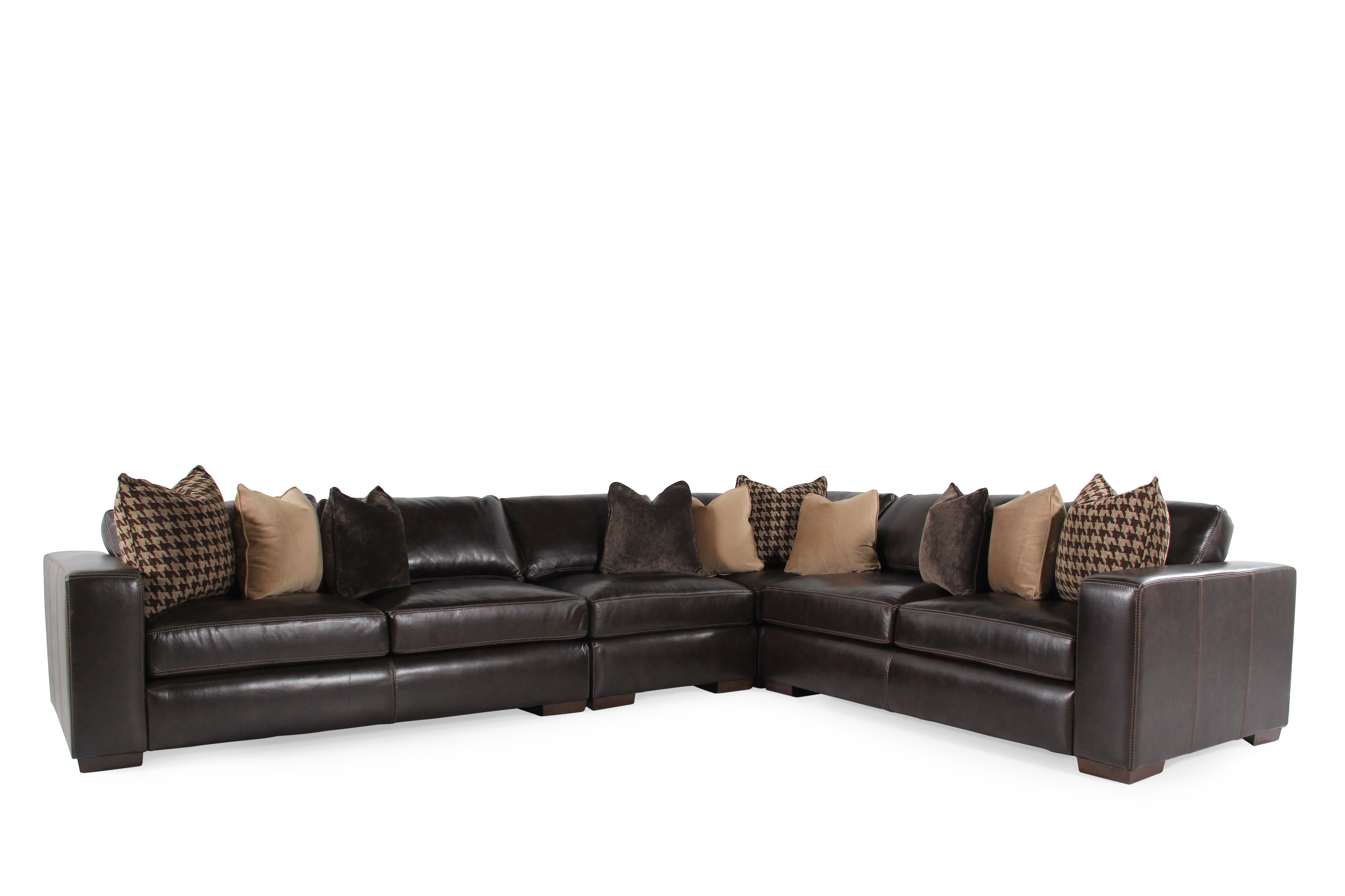 Bernhardt Dorian Leather Sectional  sc 1 st  Mathis Brothers : bernhardt sectional sofa - Sectionals, Sofas & Couches