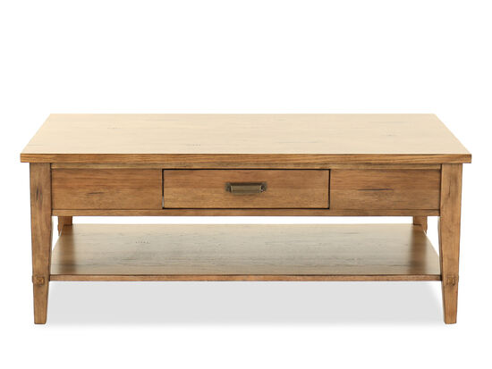 Contemporary One-Drawer Cocktail Table in Dark Brown