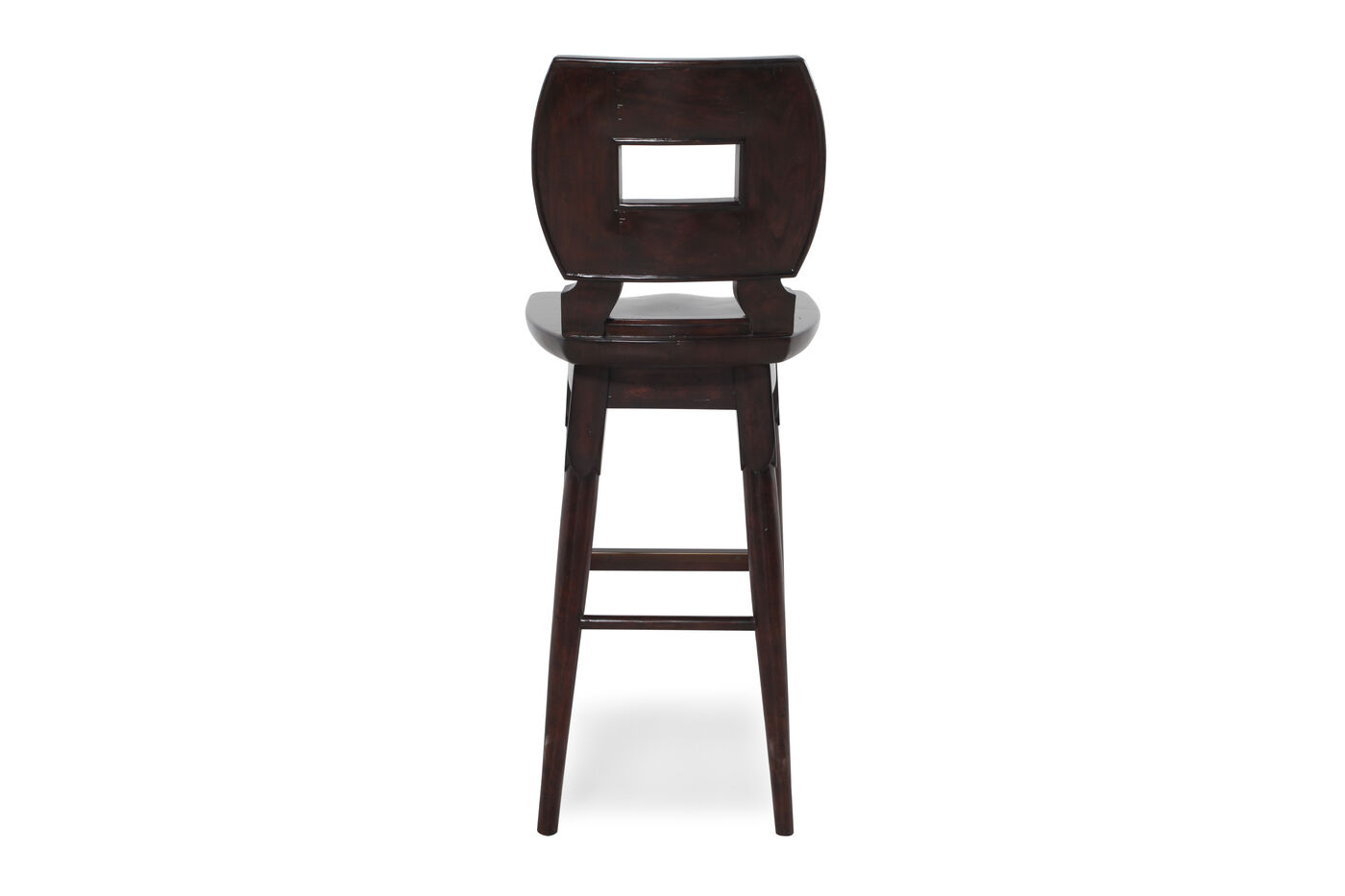 Contemporary 43 Quot Swivel Bar Stool In Dark Brown Mathis