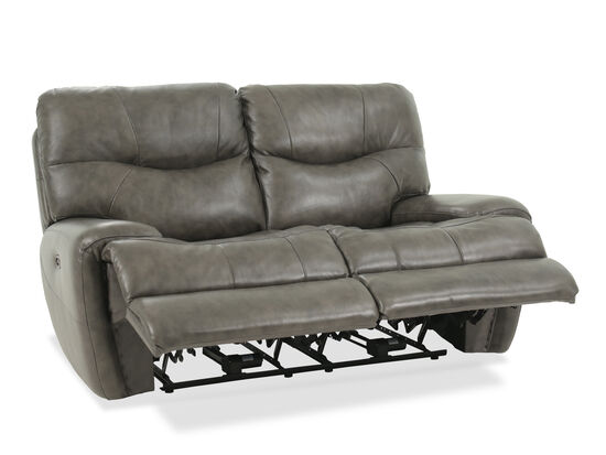 """Power Reclining Casual 68"""" Loveseat in Gray"""