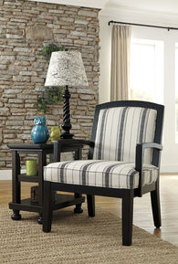 """Striped Casual 28"""" Accent Chair"""