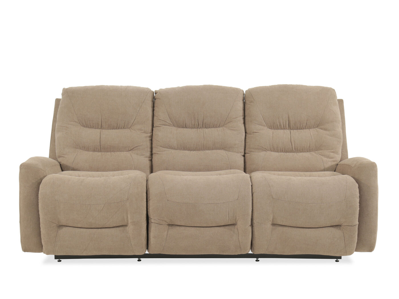 Traditional 86 Quot Reclining Sofa In Beige Mathis Brothers