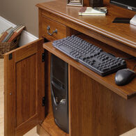MB Home Pristine Alley Planked Cherry Computer Desk with Hutch