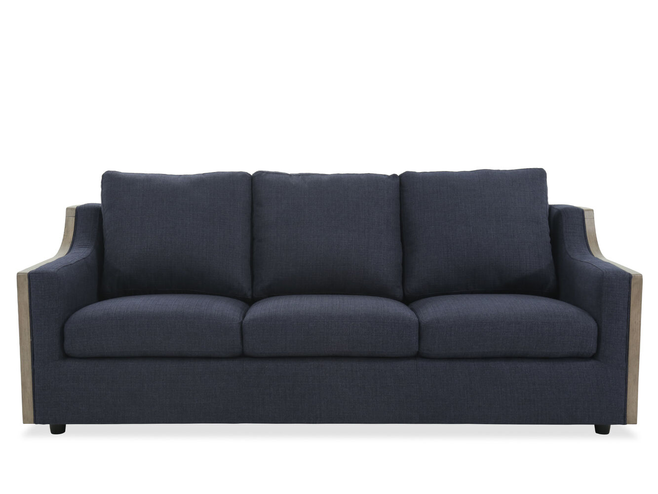 Casual 85 sofa in blue mathis brothers furniture for Casual couch