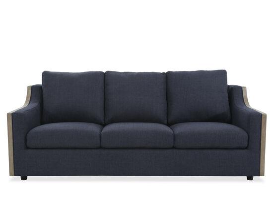 "Casual 85"" Sofa in Blue"