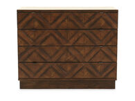 "34"" Casual Four-Drawer Bachelor's Chest in Walnut"