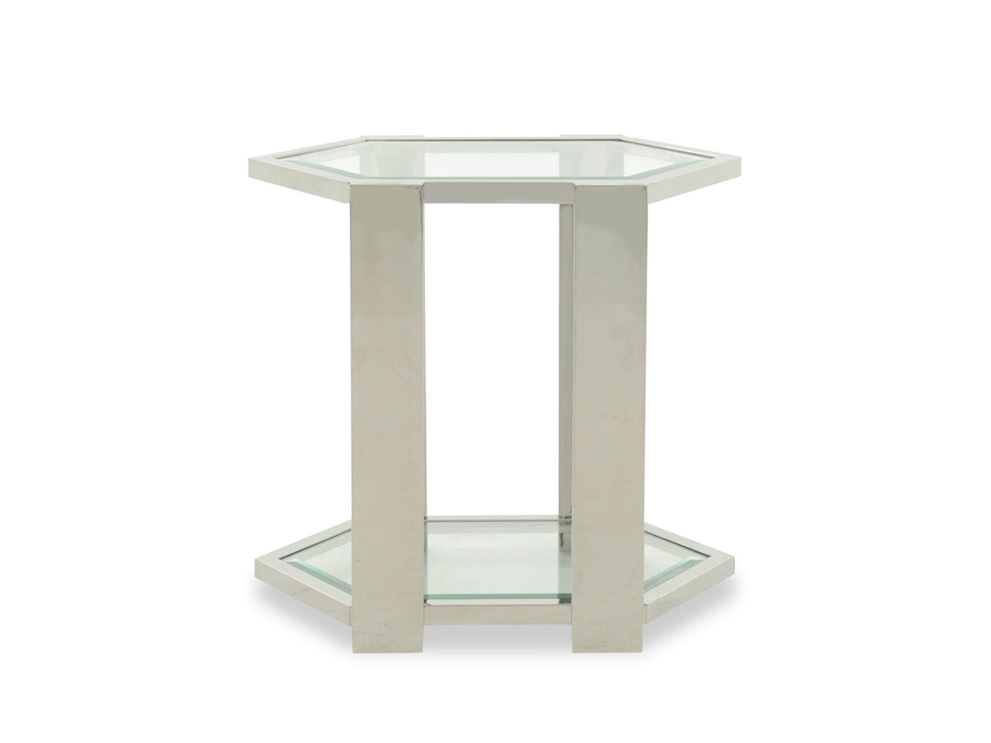 Images Tempered Glass Transitional End Table In White Tempered Glass  Transitional End Table In White