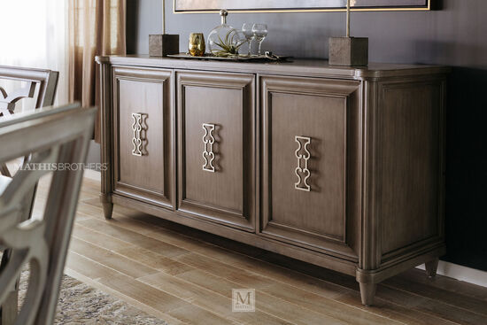 "60"" Three-Cabinet Credenza in Brown"