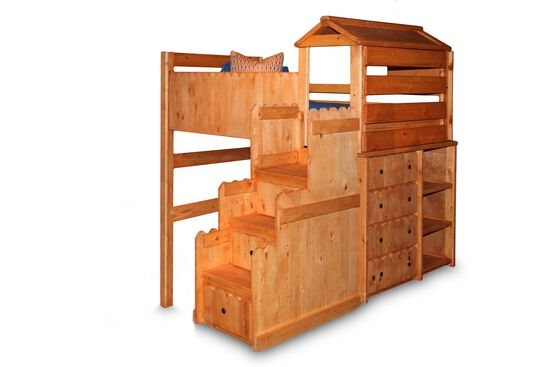 Casual Youth Twin Fort Bed in Cinnamon