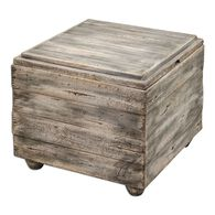 Lift-Top Cube Table in Waxed Driftwood