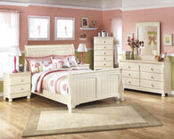 Ashley Cottage Retreat Cream Cottage Two-Drawer Nightstand