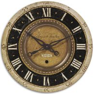 Weathered Roman Numeral Wall Clock