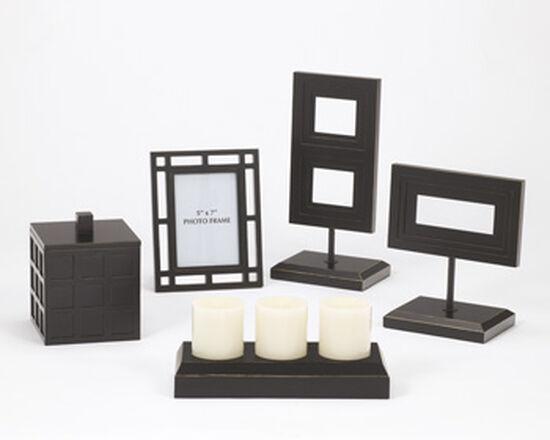 Five-Piece Contemporary Accessories in Black