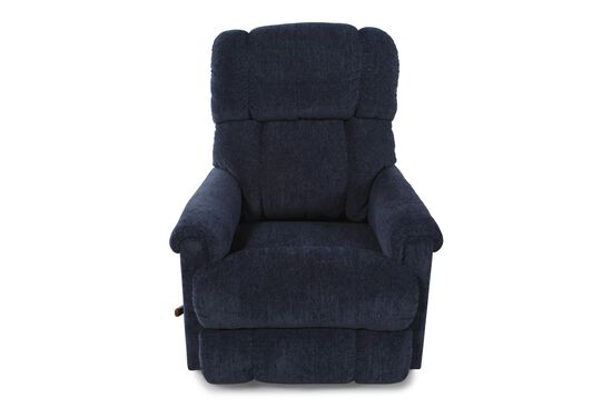 "Contemporary 33"" Rocker Recliner in Dark Blue"