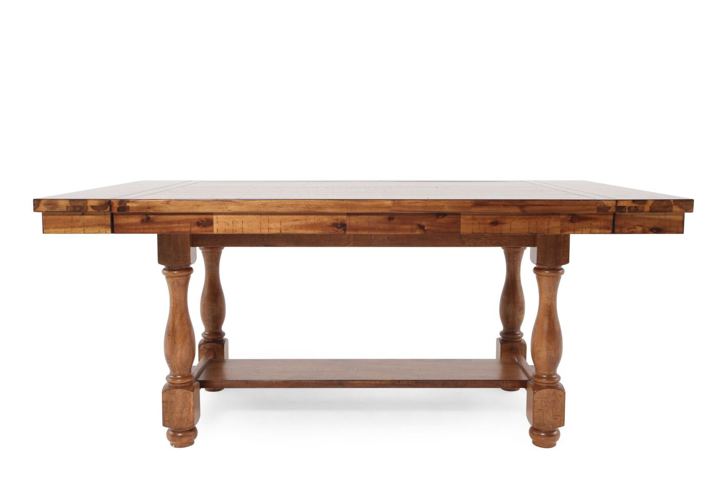 Traditional 68 to 92 extendable pedestal dining table in for Traditional dining table
