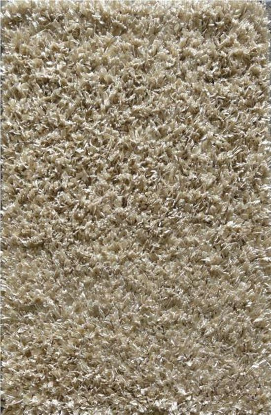 LB Hand Tufted Wool/Polyester Champagne Solid Rug