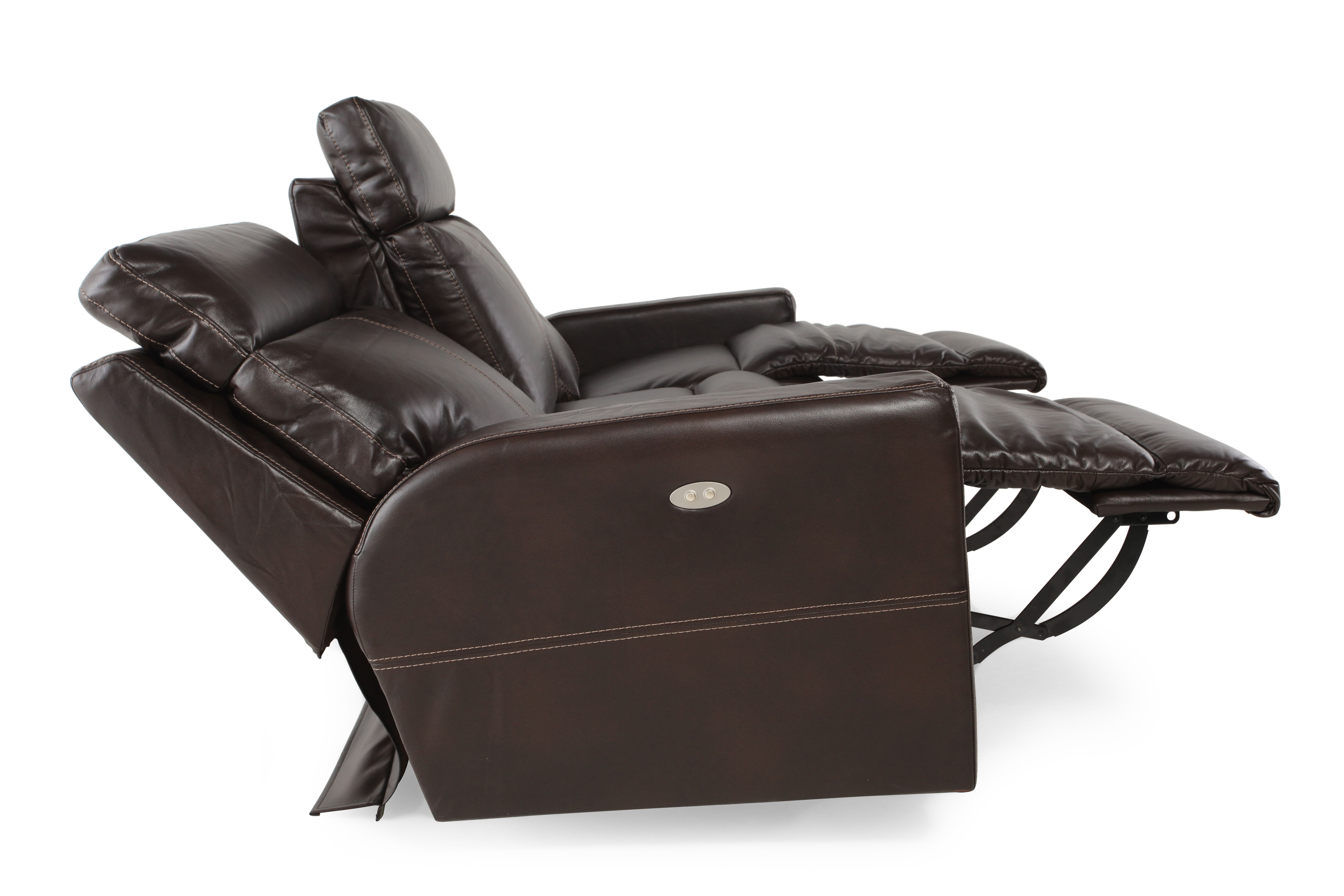 Contemporary Power Reclining 82u0026quot; Sofa In Brown