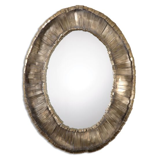 """40.5"""" Oval Accent Mirror in Silver"""