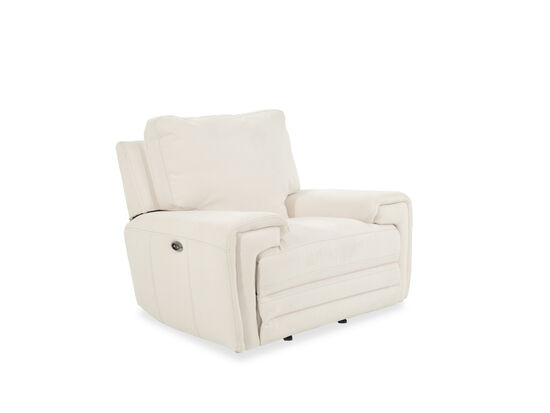 """Casual 49"""" Motion Power Glider Reclinerin White"""