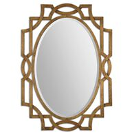 41'' Hand Forged Frame Oval Mirror in Antiqued Gold Leaf