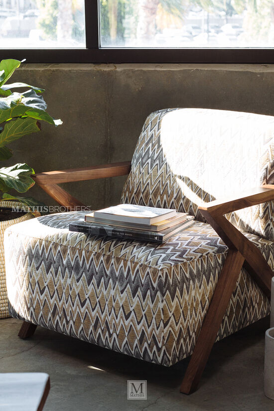 "Zig-Zag Patterned Casual 30"" Accent Chair"