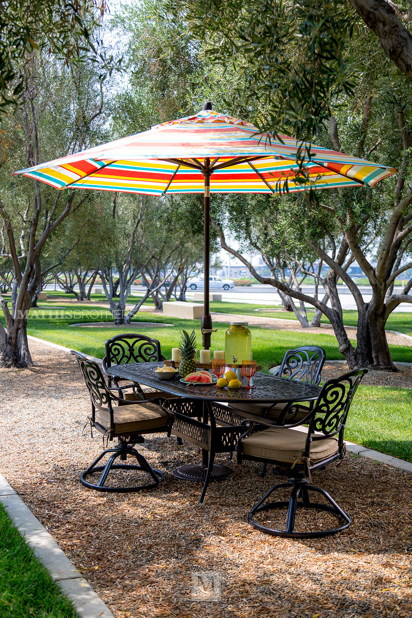 Mathis Brothers Patio Furniture world source st. louis oval table | mathis brothers furniture