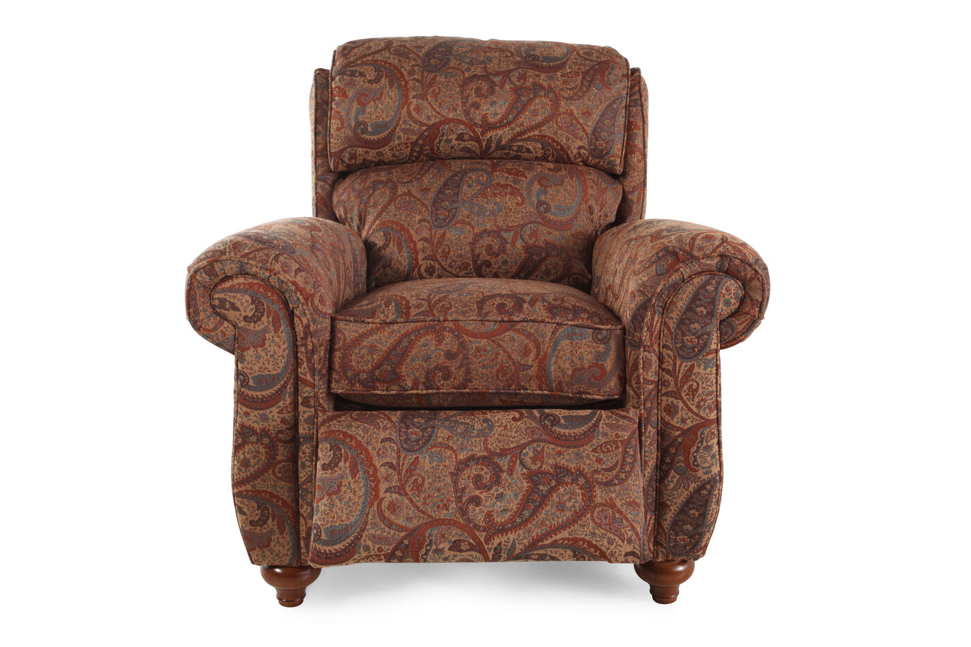 Traditional Cayenne Floral Patterned 41 Quot Recliner Mathis