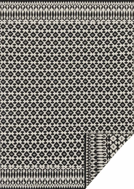 """Transitional 1'-6""""x1'-6"""" Square Rug in Ivory/Black"""
