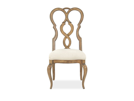 Scrolled Back 45'' Dining Side Chair in Oak