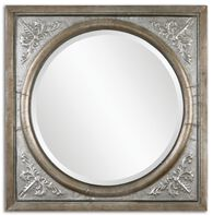 "34"" Beveled Accent Mirror in Antique Burnished Silver"