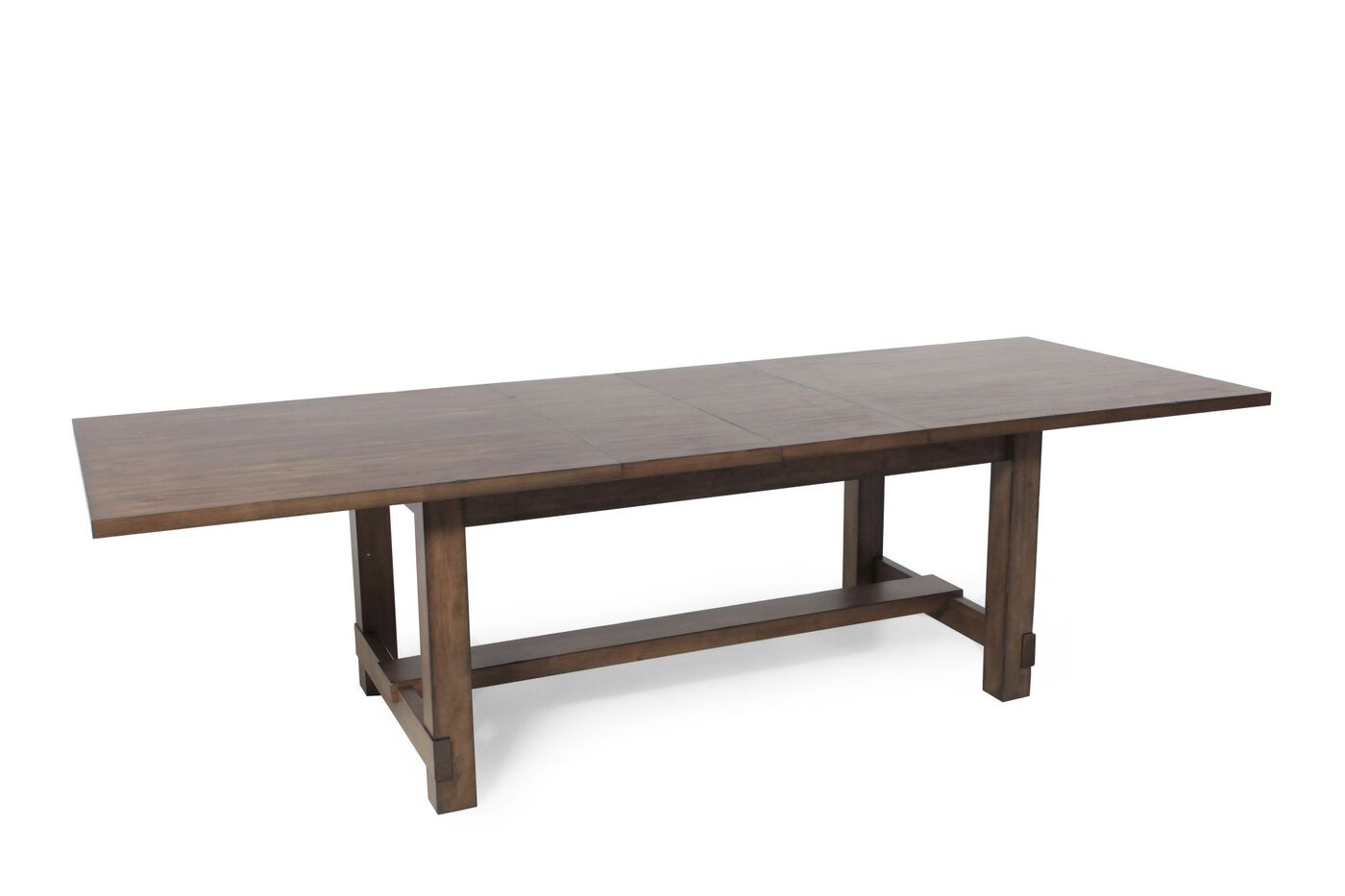 Casual 82 to 112 rectangular dining table in acacia gray for Casual kitchen tables