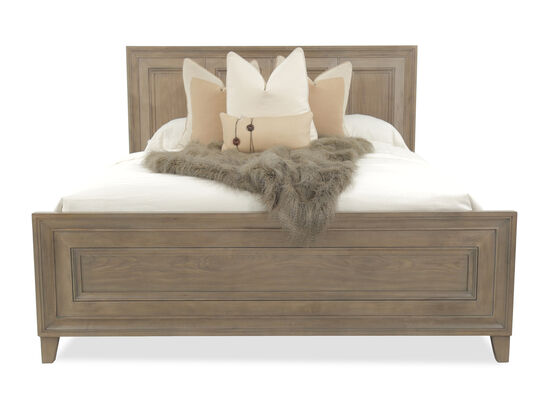 "59"" Framed Panel Traditional Bed in Driftwood"