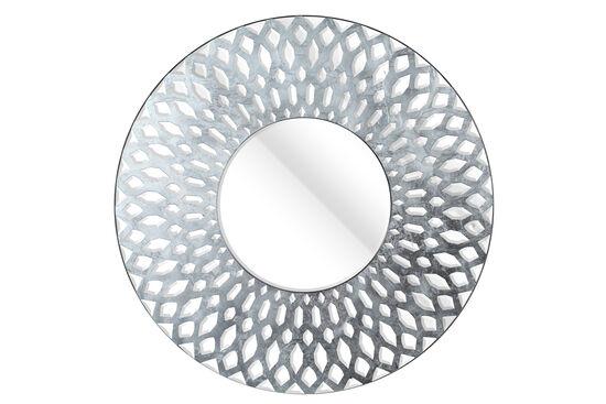 "40"" Metropolitan Non-Beveled Accent Mirror in Silver"