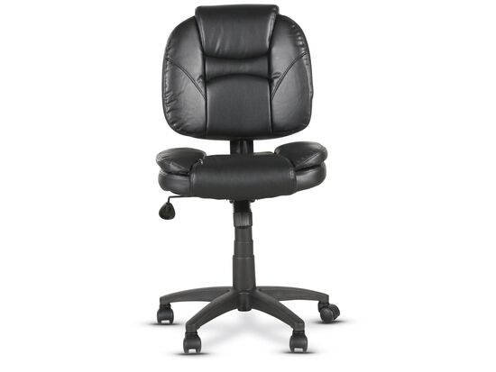 Casters Tilt Lock Task Chair in Black