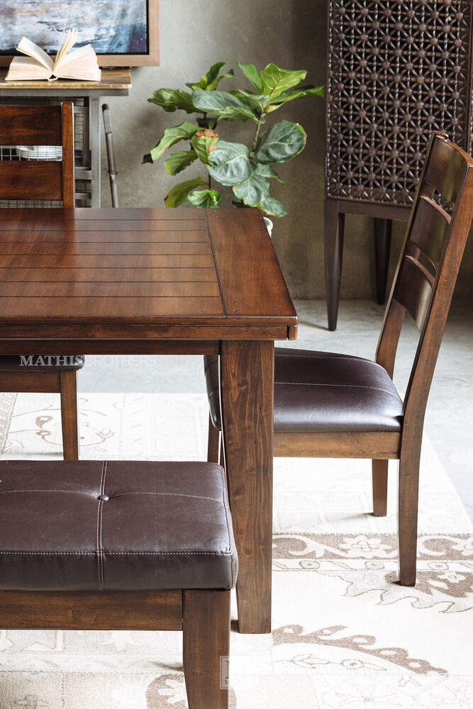 Ashley 72quot 90quot Rectangle Extension Dining Table In Burnished