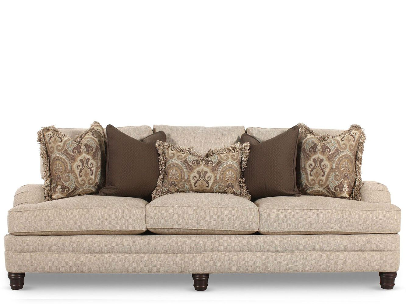 European classic 96 english arm sofa in sand mathis brothers furniture for Mathis brothers living room furniture