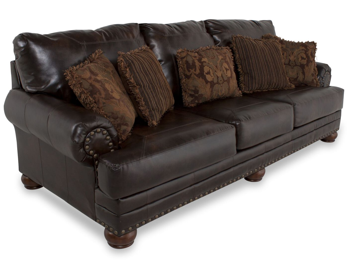 Traditional Nailhead Accented 102 Quot Sofa In Brown Mathis