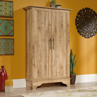Two-Door Contemporary Storage Cabinet in Antigua Chestnut
