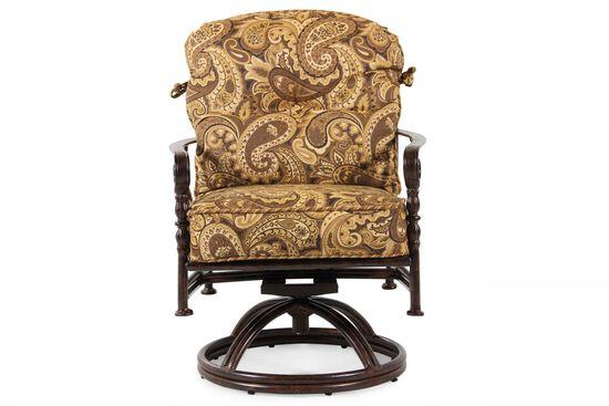 Paisley Aluminum Swivel Dining Chair