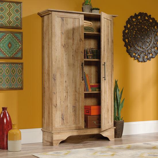 Two-Door Contemporary Storage Cabinet in Antigua Chestnut