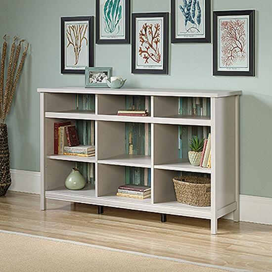 Contemporary Adjustable Shelf Storage Credenza in Cobblestone