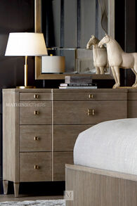 """40"""" Transitional Four-Drawer Chesser in Brown"""